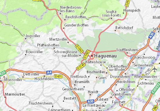 Schweighouse-sur-Moder Map