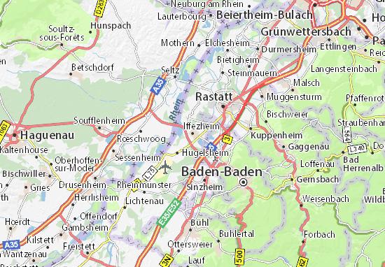 Karte Stadtplan Iffezheim