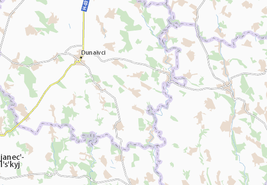 Velyka Pobiina Map