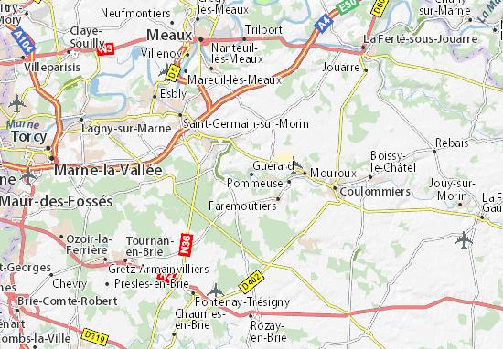 Karte Stadtplan Guérard