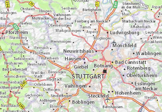 Karte Stadtplan Ditzingen