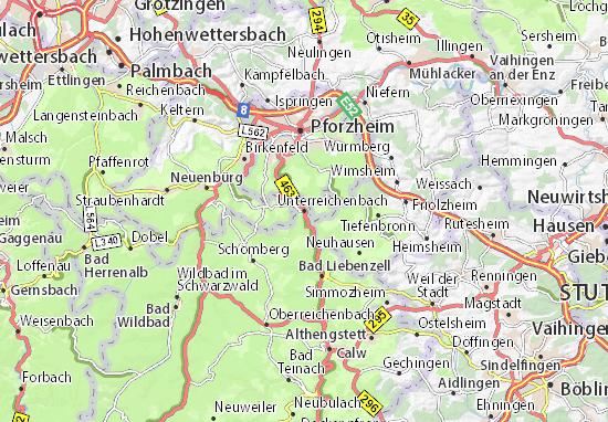 Carte-Plan Unterreichenbach