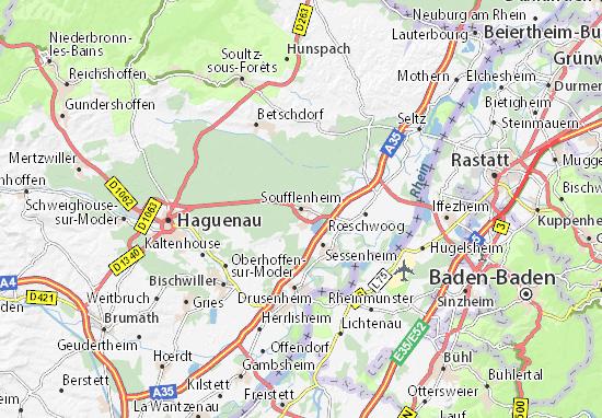 Karte Stadtplan Soufflenheim