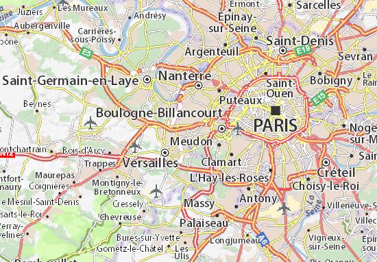 marne la coquette carte Carte détaillée Marnes la Coquette   plan Marnes la Coquette