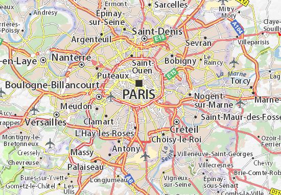 Map of Paris 13 - Michelin Paris 13 map - ViaMichelin