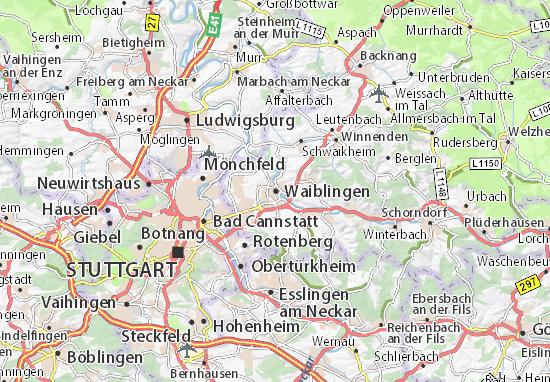 Karte Stadtplan Waiblingen