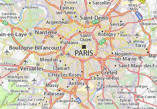 Paris 14 Map