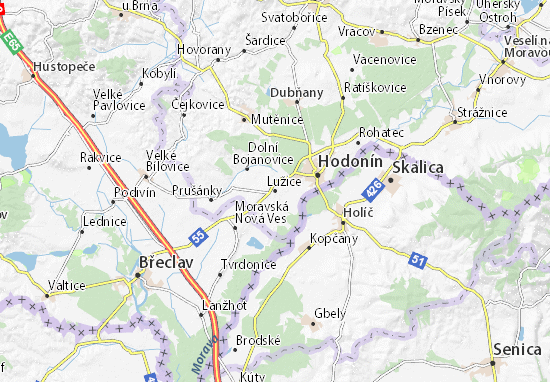 Lužice Map