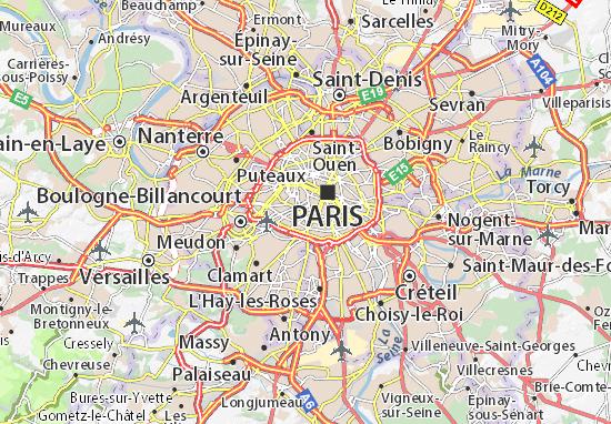 Carte Detaillee Montparnasse Plan Montparnasse Viamichelin
