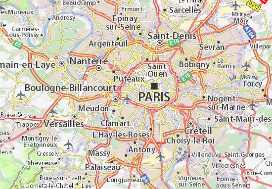 Mapa Plano Paris 15