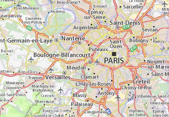 Carte d taill e saint cloud plan saint cloud viamichelin - Location voiture porte de saint cloud ...