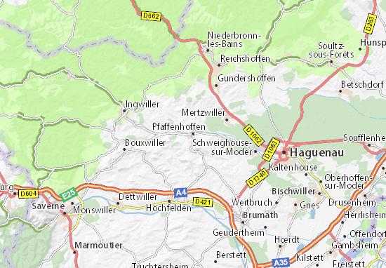 Pfaffenhoffen Map