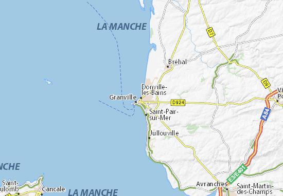 Donville-les-Bains Map