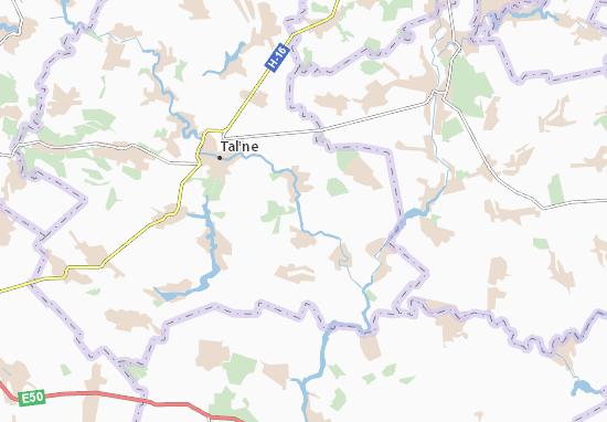 Mapa Plano Dovhen'ke