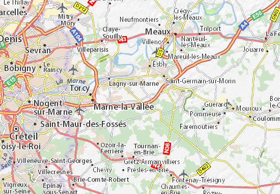 Karte Stadtplan Serris