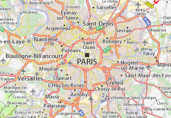 kaart van parijs Kaart van Paris 05  plattegrond van Paris 05  ViaMichelin