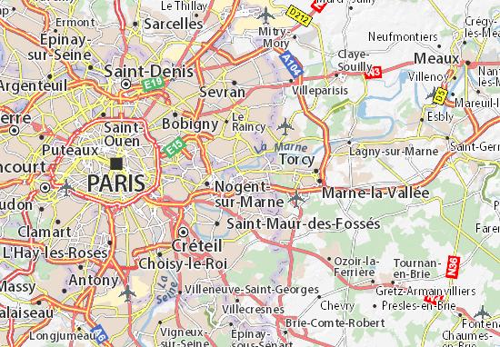 noisy le grand carte Detailed map of Noisy le Grand   Noisy le Grand map   ViaMichelin