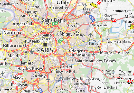 Kaart Plattegrond Fontenay-sous-Bois