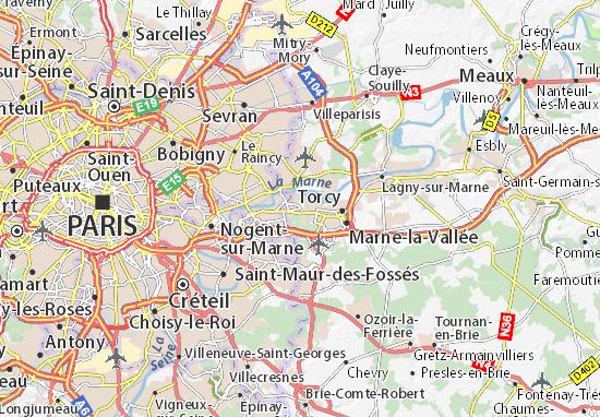 Champs-sur-Marne Map