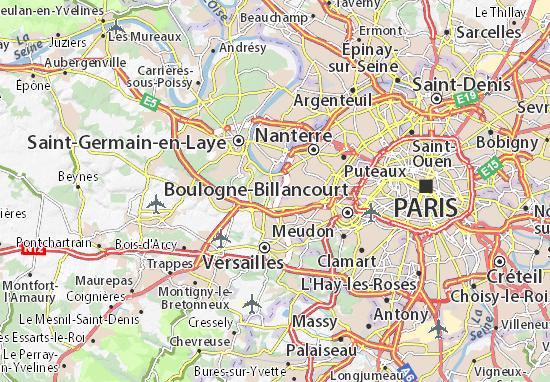 Carte-Plan La Celle-Saint-Cloud