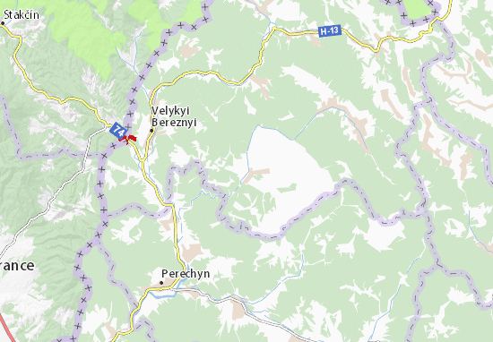 Čornoholova Map