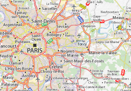 Carte-Plan Neuilly-sur-Marne