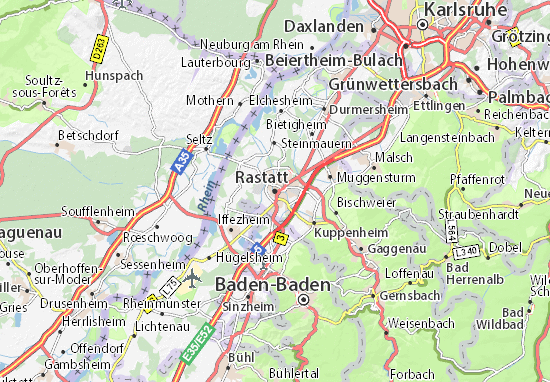 Rastatt Map