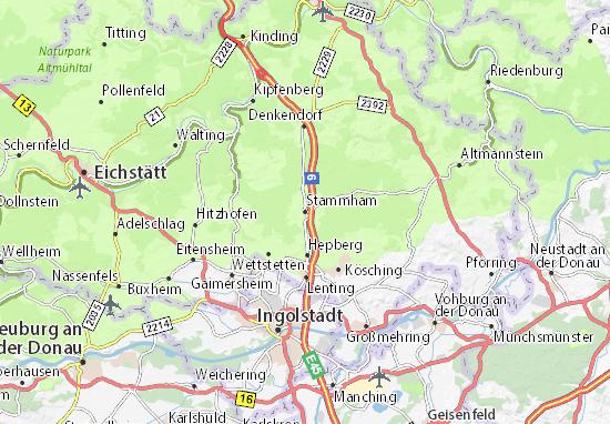 Karte Stadtplan Stammham