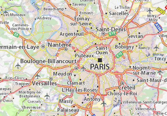 Map of Paris 16 Michelin Paris 16 map ViaMichelin – Map Paris Tourist Attractions