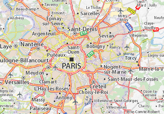 Paris 20 Map