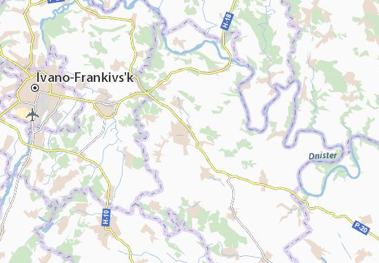 Mapas-Planos Honcharivka