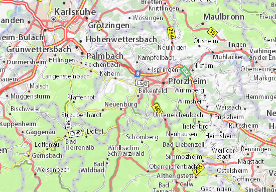 Birkenfeld Map
