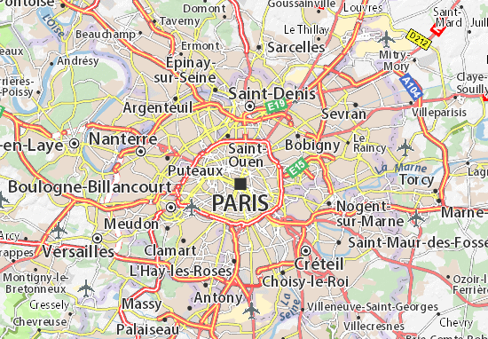 Karte Stadtplan Paris 10