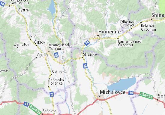Strážske Map