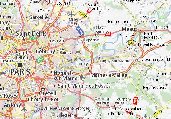 Carte-Plan Vaires-sur-Marne