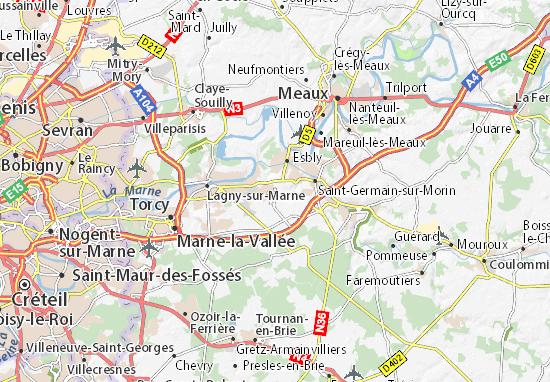 Karte Paris Stadtplan.Karte Stadtplan Disneyland Resort Paris Viamichelin