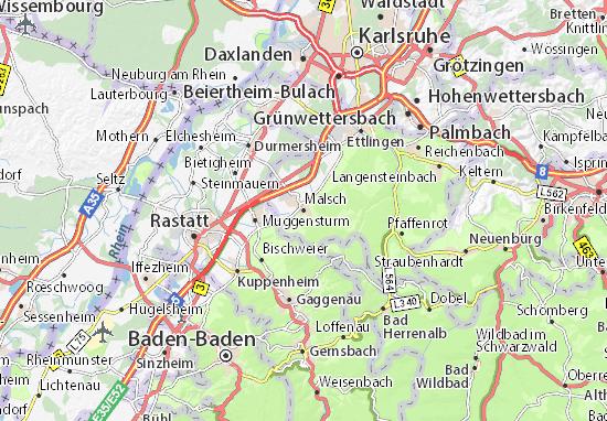 Karte Stadtplan Malsch