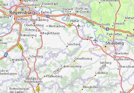 Sünching Map