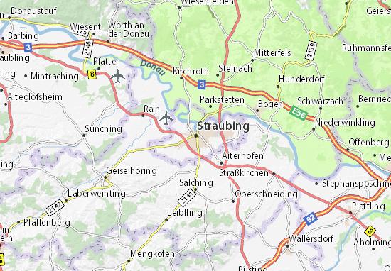 Carte-Plan Straubing