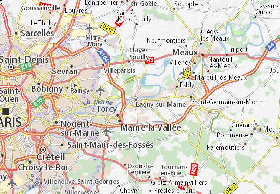 Thorigny-sur-Marne Map