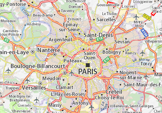 Paris 17 Map