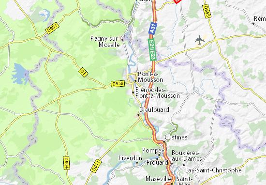 Mapa Plano Blénod-lès-Pont-à-Mousson