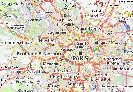 Karte Stadtplan Neuilly-sur-Seine