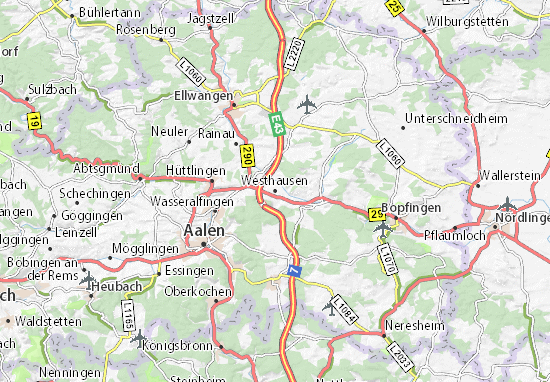 Carte-Plan Westhausen