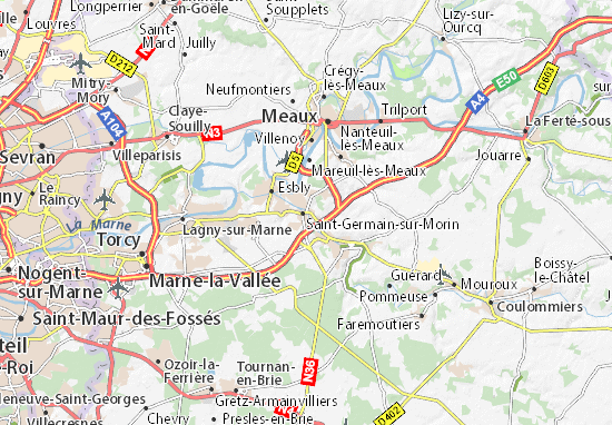 Mapa Plano Couilly-Pont-aux-Dames