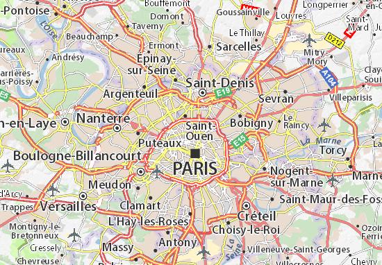 Montmartre Map Detailed Maps For The City Of Montmartre ViaMichelin - Map of paris tourist sites