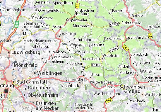 Kaart Plattegrond Rudersberg