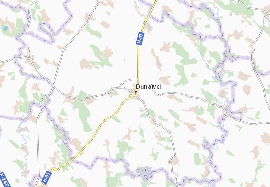 Dunaïvci Map