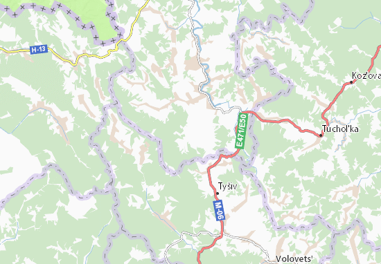 Verkhnje Husyne Map