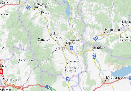 Vranov nad Topľou Map